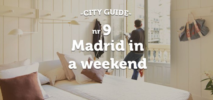 Madrid in a weekend